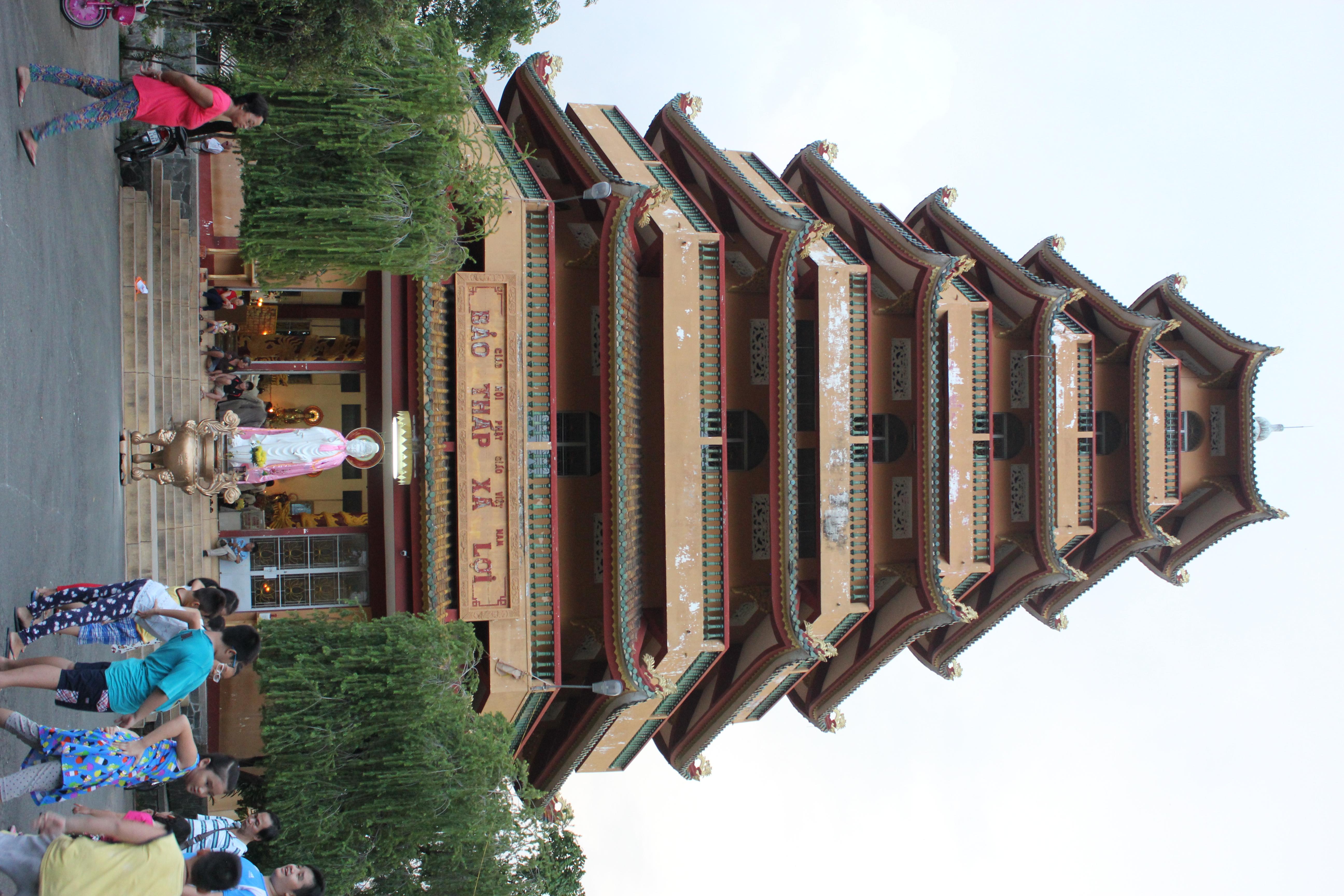 ベトナムのホーチミンの覚林寺